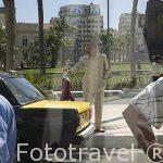 Taxistas en la plaza Saad Zaghloul. ALEJANDRIA. Egipto