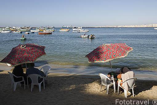 Playas junto a la calle 26 de Julio. Ciudad de ALEJANDRIA. Egipto