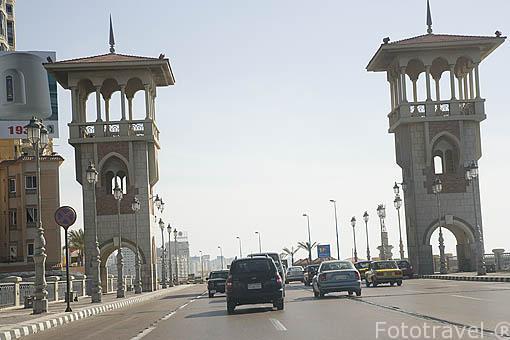 Puente de Stanley. Ciudad de ALEJANDRIA. Egipto