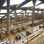 Interior de la Biblioteca Alejandrina con una superficie de 36.770 mts cuadrados. Inaugurada en el año 2000. Ciudad de ALEJANDRIA. Egipto