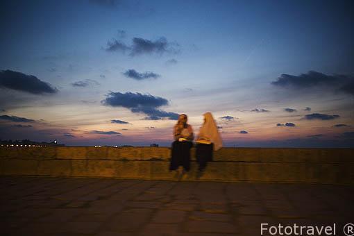 Paseo maritimo junto a la calle de 26 de Julio. Ciudad de ALEJANDRIA. Egipto