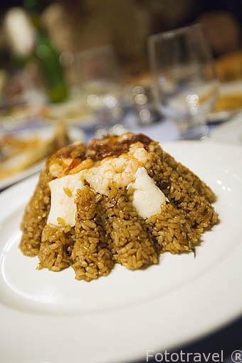 Plato de arroz con gambas. Ciudad de ALEJANDRIA. Egipto
