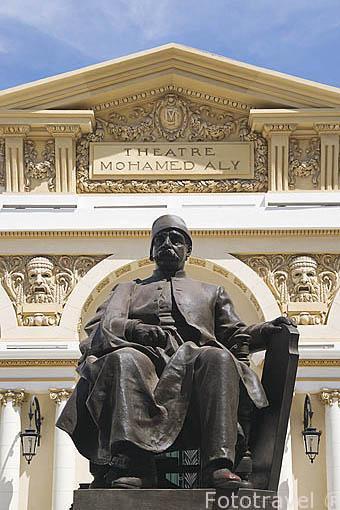 Escultura de Mohamed Ali. Teatro Mohamed Ali. Ciudad de ALEJANDRIA. Egipto