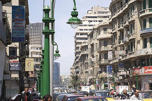 Calle Iskander al-Akbar. Ciudad de ALEJANDRIA. Egipto