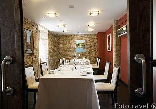 Restaurante y hotel A Tafona do Peregrino. Santiago de Compostela. Ciudad Patrimonio de UNESCO. A Coruña. España