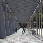 Pasarela junto a la Avda. Juan XXIII. Santiago de Compostela. Ciudad Patrimonio de UNESCO. A Coruña. España