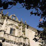 Fachada del Colegio Fonseca. Santiago de Compostela. Ciudad Patrimonio de UNESCO. A Coruña. España