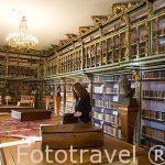 Biblioteca America del colegio Fonseca. Santiago de Compostela. Ciudad Patrimonio de UNESCO. A Coruña. España