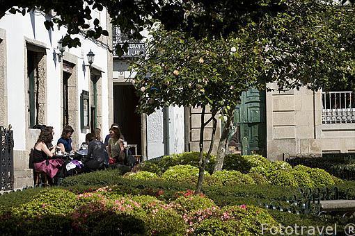 Plaza de Fonseca. Santiago de Compostela. Ciudad Patrimonio de UNESCO. A Coruña. España