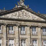 Fachada del edificio del Ayuntamiento. Santiago de Compostela. Ciudad Patrimonio de UNESCO. A Coruña. España