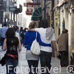 Calle de Franco. Santiago de Compostela. Ciudad Patrimonio de UNESCO. A Coruña. España