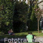 Parque de la Alameda. Santiago de Compostela. Ciudad Patrimonio de UNESCO. A Coruña. España