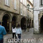 Calle Rua Do Vilar. Santiago de Compostela. Ciudad Patrimonio de UNESCO. A Coruña. España