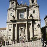 Fachada de la iglesia de San Francisco. Santiago de Compostela. Ciudad Patrimonio de UNESCO. A Coruña. España