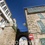 Arco de Mazarelos, el unico resto de muralla de la ciudad. Santiago de Compostela. Ciudad Patrimonio de UNESCO. A Coruña. España