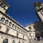 La plaza de Platerias. Santiago de Compostela. Ciudad Patrimonio de UNESCO. A Coruña. España