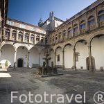 Patio San Marcos, s.XVII. Hostal Parador de los Reyes Catolicos. Santiago de Compostela. Ciudad Patrimonio de UNESCO. A Coruña. España