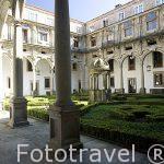 Patio San Mateo, s.XVIII. Hostal Parador de los Reyes Catolicos. Santiago de Compostela. Ciudad Patrimonio de UNESCO. A Coruña. España