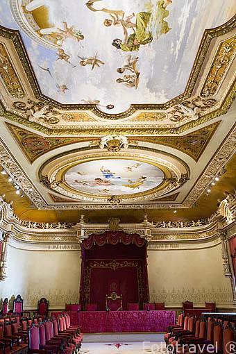 Paraninfo de la Universidad, S.XIX-XX. Santiago de Compostela. Ciudad Patrimonio de UNESCO. A Coruña. España