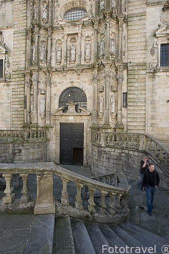 Iglesia de San Martin en la plaza de San Martiño. Santiago de Compostela. Ciudad Patrimonio de UNESCO. A Coruña. España
