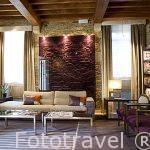 Interior Hotel Boutique Altair en calle de Loureiros. Santiago de Compostela. Ciudad Patrimonio de UNESCO. A Coruña. España