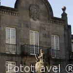 Plaza de Toural. Santiago de Compostela. Ciudad Patrimonio de UNESCO. A Coruña. España