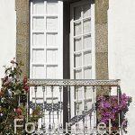 Balcon en la calle Tras San Fiz de Solovio. Santiago de Compostela. Ciudad Patrimonio de UNESCO. A Coruña. España