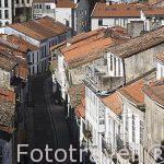 Calle de Costa da Cristo. Santiago de Compostela. Ciudad Patrimonio de UNESCO. A Coruña. España