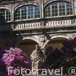 Turistas en los tejados de la catedral. Santiago de Compostela. Ciudad Patrimonio de UNESCO. A Coruña. España