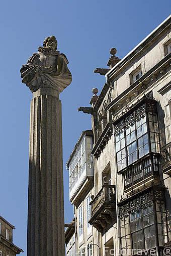 Plaza de Cervantes. Santiago de Compostela. Ciudad Patrimonio de UNESCO. A Coruña. España