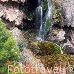 Cascada. Ruta de las Cuevas de La Garita. Cerca de CHERA. Valencia. Comunidad Valenciana. España