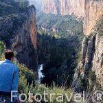 El cañón del rio Turia. Cerca al pueblo de CHULILLA. Valencia. Comunidad Valenciana. España