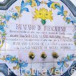 Placa de ceramica. Balneario de Fuencaliente. A las afueras del pueblo de CHULILLA. Valencia. Comunidad Valenciana. España