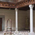 Patio interior de la Casa de Andres Laguna, Centro Didactico de la Juderia. SEGOVIA. Ciudad Patrimonio de la UNESCO. Castilla y Leon. España