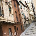 Calle de Santa Ana, barrio de la antigua juderia. SEGOVIA. Ciudad Patrimonio de la UNESCO. Castilla y Leon. España