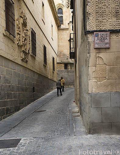 Calle de la Juderia Vieja. SEGOVIA. Ciudad Patrimonio de la UNESCO. Castilla y Leon. España