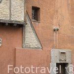 Fachada de una casa en el antiguo barrio de la juderia. SEGOVIA. Ciudad Patrimonio de la UNESCO. Castilla y Leon. España