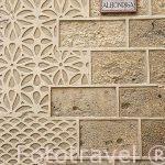 Detalle de esgrafiado en la fachada de la Alhondiga. SEGOVIA. Ciudad Patrimonio de la UNESCO. Castilla y Leon. España