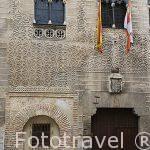 Esgrafiado en la fachada del Palacio de Cascales, Conde de Alpuente. SEGOVIA. Ciudad Patrimonio de la UNESCO. Castilla y Leon. España