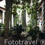 Interior patio de la Casa de los Del Rio. Mandado construir por el regidor Gonzalo del Rio. S.XV-XVI. SEGOVIA. Ciudad Patrimonio de la UNESCO. Castilla y Leon. España