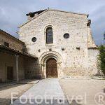 Fachada. Iglesia de los Santos Justo y Pastor, s.XII-XIII. SEGOVIA. Ciudad Patrimonio de la UNESCO. Castilla y Leon. España