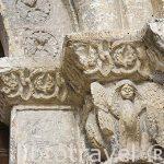 Detalle de un capitel en la portada. Iglesia de los Santos Justo y Pastor, s.XII-XIII. SEGOVIA. Ciudad Patrimonio de la UNESCO. Castilla y Leon. España