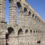 Vista panorámica del acueducto romano de Segovia - siglo I-II