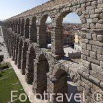 Acueducto romano del s.I-II segoviano, vista vertical