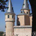 Torres de el Alcázar Segoviano con enmarcado natural
