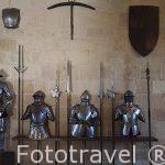 Armaduras militares. Sala de la Armeria. Alcazár. Segovia