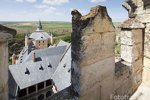 El Alcazar. S.XII- XVI. Ciudad de Segovia - Vista Horizontal