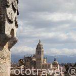 Vista de la ciudad desde el Alcazar. Ciudad de Segovia.