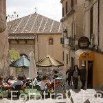 Terraza en la calle de la Alhondiga, Segovia.