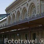 Estación de tren. Inaugurada en 1919. Edificio de estilo Neomudejar. Ciudad de TOLEDO. Patrimonio de la Humanidad, UNESCO. Castilla La Mancha. España